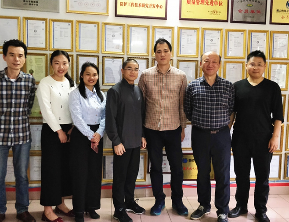 Korean Customer Visited Prosurge for Surge Protection in 5G Telecom Base Project