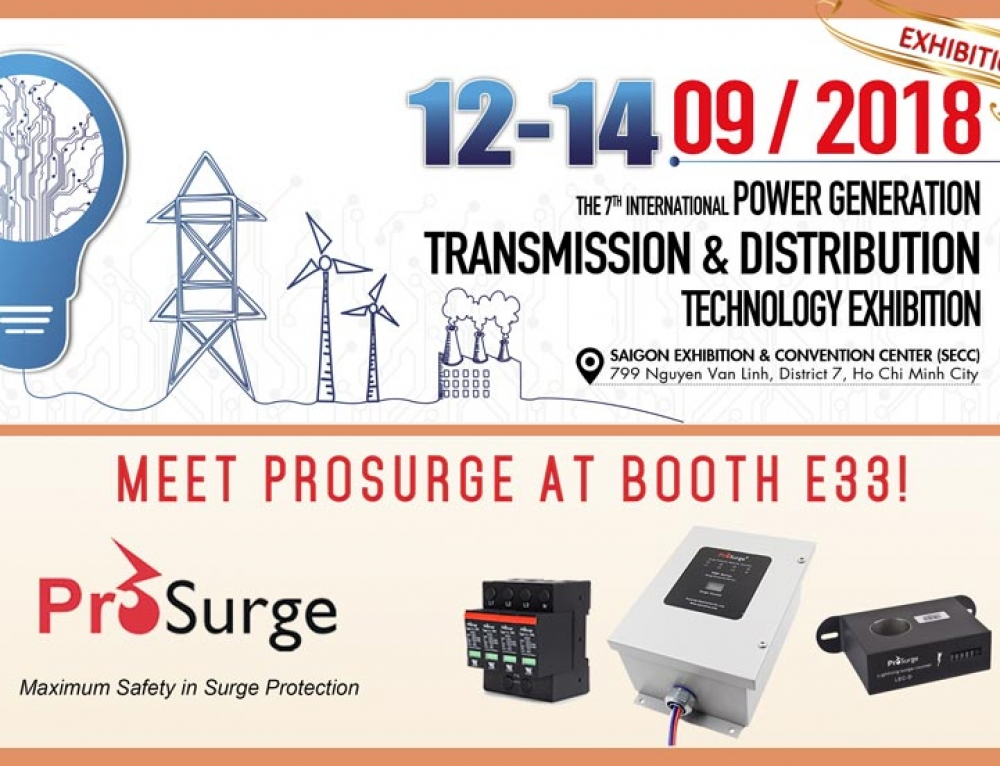 Prosurge Will Attend Electric & Power Vietnam 2018 in September
