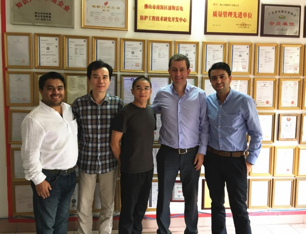 Colombia Customers Visited Prosurge for Surge Protection Business