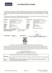Certificat ETL Prosurge du dispositif de protection contre les surtensions
