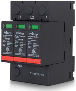 ETL Certified DIN-rail Surge Protection Device (SPD)- 3 Pole