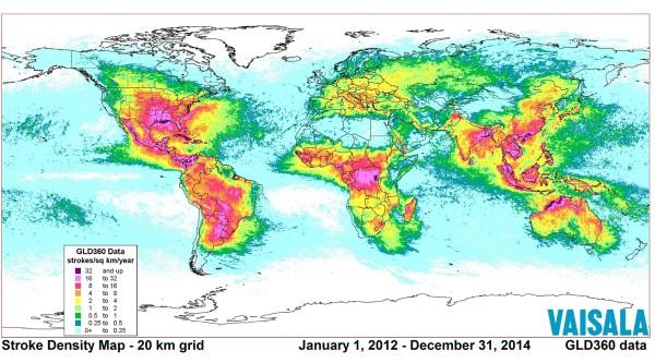 Lightning Stoke Density Map_600