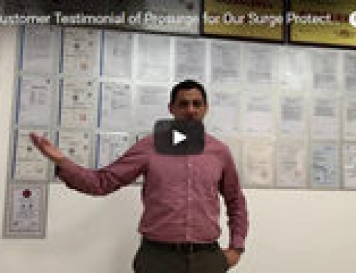Live Video Customer Testimonial of Prosurge and Its Surge Protection Products