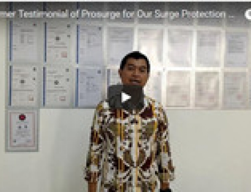 Video Customer Testimonial of Prosurge and Its Surge Protection Device From Indonesian Customer